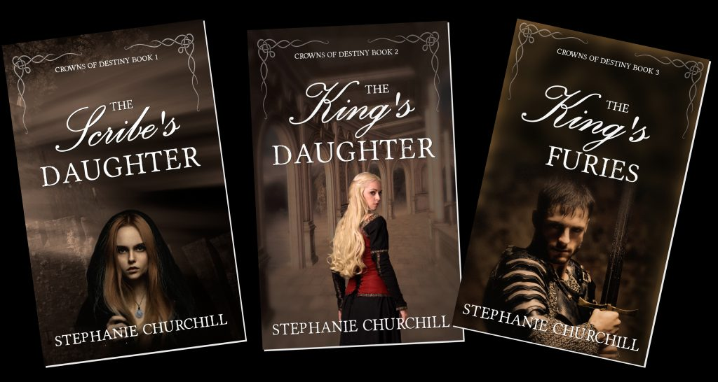 paperback copies of Crowns of Destiny books